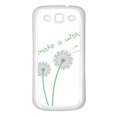 Make a Wish Samsung Galaxy S3 Back Case (White)