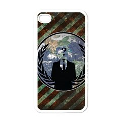 World Wide Anonymous Apple iPhone 4 Case (White)
