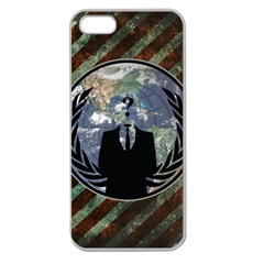 World Wide Anonymous Apple Seamless iPhone 5 Case (Clear)