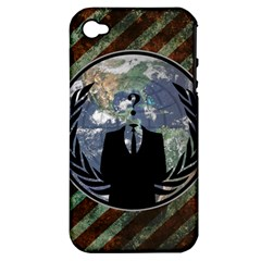 World Wide Anonymous Apple iPhone 4/4S Hardshell Case (PC+Silicone)
