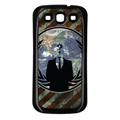 World Wide Anonymous Samsung Galaxy S3 Back Case (Black)