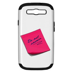 Post It Samsung Galaxy S Iii Hardshell Case (pc+silicone)