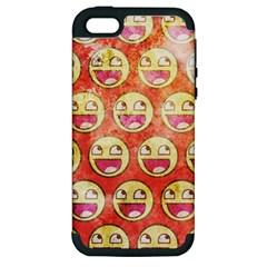 Epic Face Apple Iphone 5 Hardshell Case (pc+silicone)