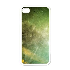 Green Grunge Apple iPhone 4 Case (White)