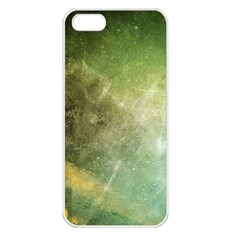 Green Grunge Apple iPhone 5 Seamless Case (White)