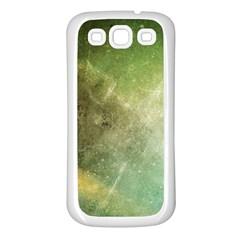 Green Grunge Samsung Galaxy S3 Back Case (White)