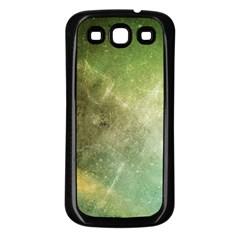 Green Grunge Samsung Galaxy S3 Back Case (Black)