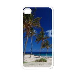 Relaxing on the Beach Apple iPhone 4 Case (White)