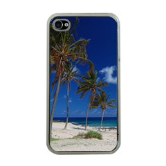 Relaxing on the Beach Apple iPhone 4 Case (Clear)