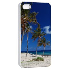 Relaxing on the Beach Apple iPhone 4/4s Seamless Case (White)