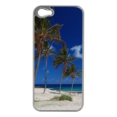 Relaxing on the Beach Apple iPhone 5 Case (Silver)