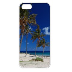 Relaxing on the Beach Apple iPhone 5 Seamless Case (White)