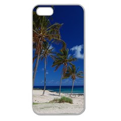 Relaxing on the Beach Apple Seamless iPhone 5 Case (Clear)