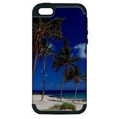 Relaxing On The Beach Apple Iphone 5 Hardshell Case (pc+silicone)