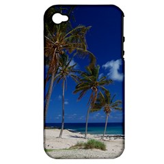 Relaxing on the Beach Apple iPhone 4/4S Hardshell Case (PC+Silicone)