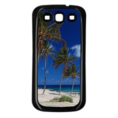 Relaxing on the Beach Samsung Galaxy S3 Back Case (Black)