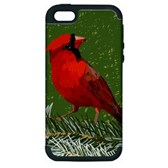 Cardinal Apple Iphone 5 Hardshell Case (pc+silicone)