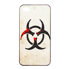 Biohazard Symbol Apple Iphone 4/4s Seamless Case (black)