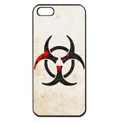 Biohazard Symbol Apple Iphone 5 Seamless Case (black)