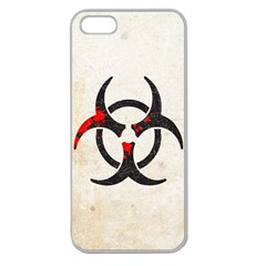 Biohazard Symbol Apple Seamless iPhone 5 Case (Clear)