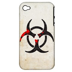 Biohazard Symbol Apple Iphone 4/4s Hardshell Case (pc+silicone)
