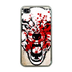 Blood Wolf Apple Iphone 4 Case (clear)