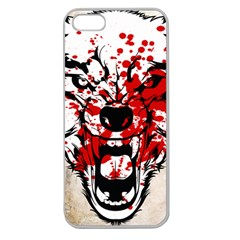 Blood Wolf Apple Seamless iPhone 5 Case (Clear)