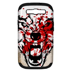 Blood Wolf Samsung Galaxy S Iii Hardshell Case (pc+silicone)