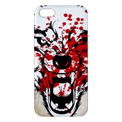 Blood Wolf iPhone 5S Premium Hardshell Case