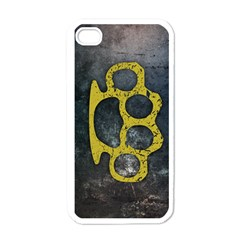 Brass Knuckles Apple iPhone 4 Case (White)