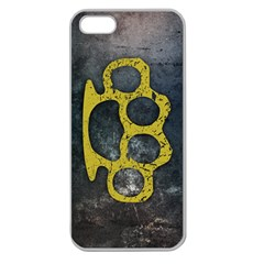 Brass Knuckles Apple Seamless iPhone 5 Case (Clear)