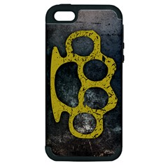 Brass Knuckles Apple iPhone 5 Hardshell Case (PC+Silicone)