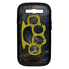 Brass Knuckles Samsung Galaxy S III Hardshell Case (PC+Silicone)