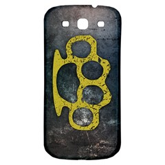 Brass Knuckles Samsung Galaxy S3 S III Classic Hardshell Back Case