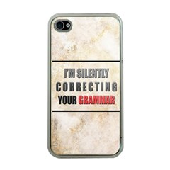 Silently correcting your grammar Apple iPhone 4 Case (Clear)