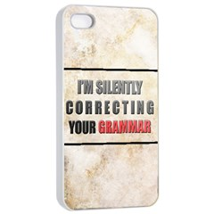 Silently correcting your grammar Apple iPhone 4/4s Seamless Case (White)