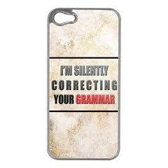 Silently Correcting Your Grammar Apple Iphone 5 Case (silver)