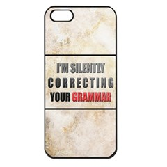 Silently correcting your grammar Apple iPhone 5 Seamless Case (Black)