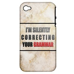 Silently correcting your grammar Apple iPhone 4/4S Hardshell Case (PC+Silicone)