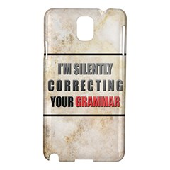 Silently Correcting Your Grammar Samsung Galaxy Note 3 N9005 Hardshell Case