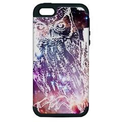 Cosmic Owl Apple Iphone 5 Hardshell Case (pc+silicone)