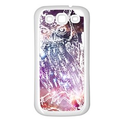 Cosmic Owl Samsung Galaxy S3 Back Case (White)
