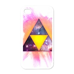 Cosmic Triple Triangles Apple iPhone 4 Case (White)