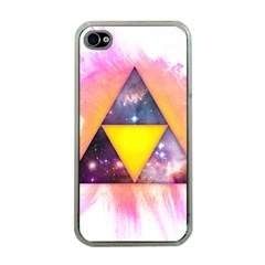 Cosmic Triple Triangles Apple iPhone 4 Case (Clear)