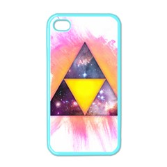 Cosmic Triple Triangles Apple iPhone 4 Case (Color)