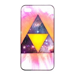 Cosmic Triple Triangles Apple iPhone 4/4s Seamless Case (Black)
