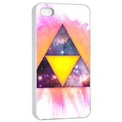 Cosmic Triple Triangles Apple iPhone 4/4s Seamless Case (White)