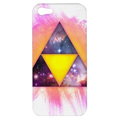 Cosmic Triple Triangles Apple Iphone 5 Hardshell Case