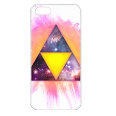 Cosmic Triple Triangles Apple iPhone 5 Seamless Case (White)