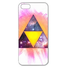 Cosmic Triple Triangles Apple Seamless Iphone 5 Case (clear)
